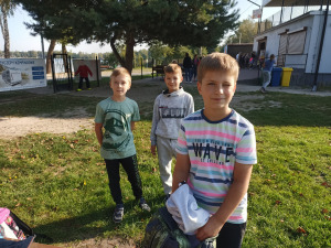 Uczniowie klas 4 nad Firlejem